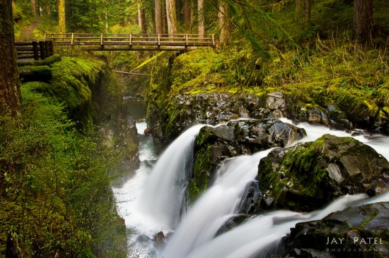 Example of waterfall photos in right light, Solduc Falls, Washington