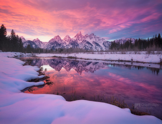 Snake River Winter, Grand Tetons