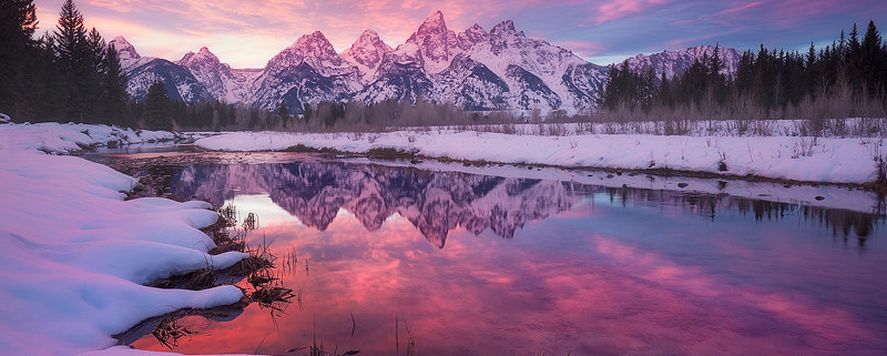 Snake River Winter, Grand Tetons
