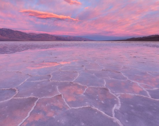 Photo #2: A flooded Badwater Basin in Death Valley National Park at sunrise. Canon 6D, 16-35mm lens @16mm.