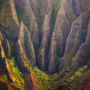 Ridges of the Na Pali Coast Aerial